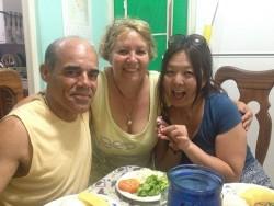 キューバの家族。アニータとホルヘ