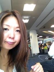 NYの写真がまだないので、マイアミからNYに向かう時の写真で。