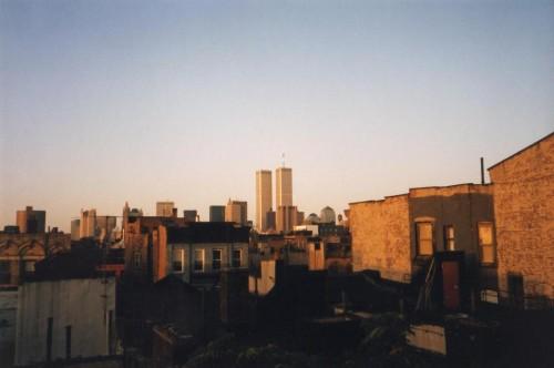 自宅アパートの屋上からの世界貿易センター。