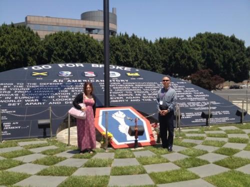 米国、LAの日系人部隊のメモリアル(2013年)